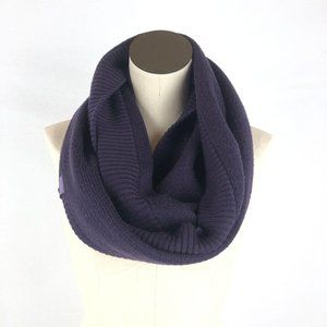 Lululemon Purple Knit Happens Merino Wool Scarf